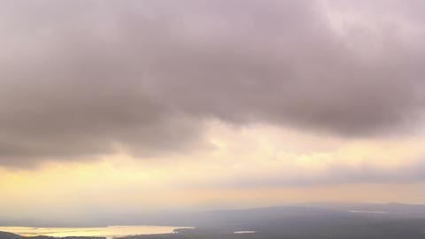 Winter sky. Time Lapse Footage