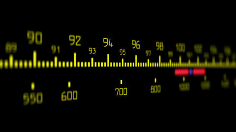 Radial Dial Retro Style Radio stock footage
