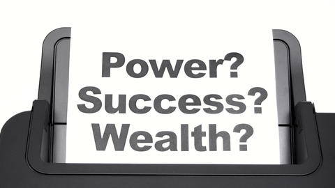 Printing Power Success Wealth Live Action