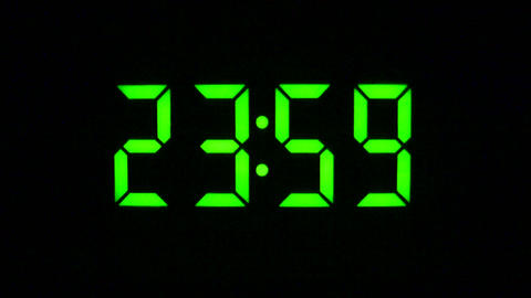 Countdown To Midnight - Time Lapse Footage