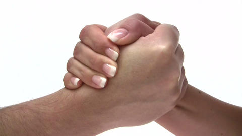 Arm Wrestling stock footage