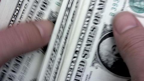 Shuffling Dollars Footage