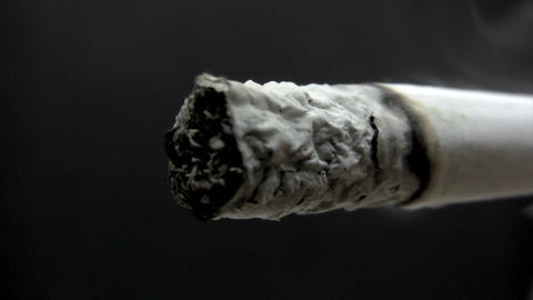 Burning Cigarette Macro - Time Lapse Footage