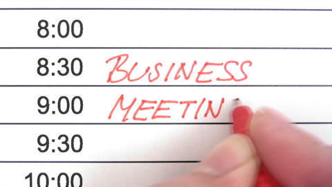 Business Meeting Reminder Footage