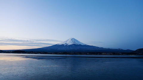 Mt. Fuji At Dawn stock footage