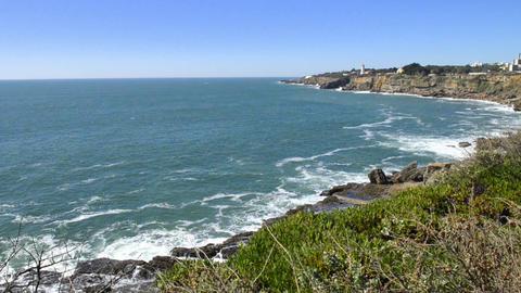 Cliffs at Cascais, Portugal Footage