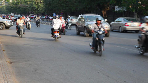 Phnom Penh, Cambodia. Traffic.