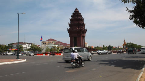 Phnom Penh, Cambodia. Traffic Footage