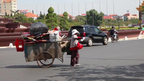 Phnom Penh, Cambodia. Traffic. 1