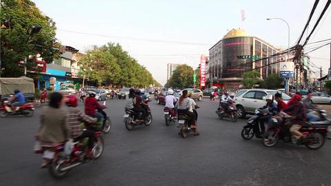 Motorbike. Traffic Footage