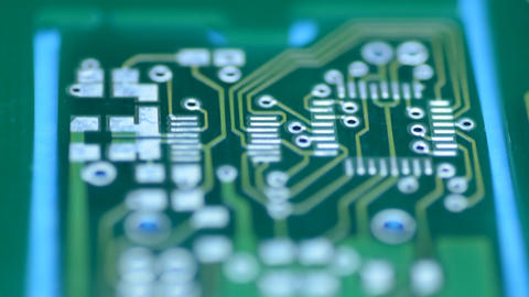 Silhouette Of Modern Printed-circuit Board, Motori stock footage