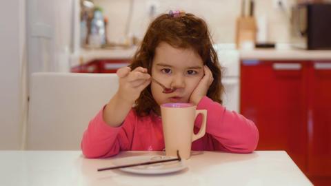 Kid Doesn't Like Breakfast Footage