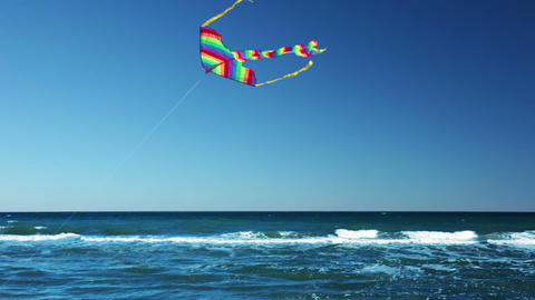 Surf And Kite stock footage