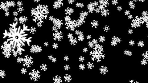 Falling Snow stock footage