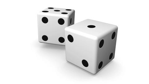Rolling White Dice Animation