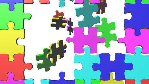 Colorful Puzzle stock footage