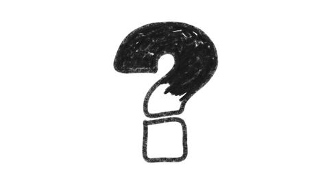 Graphite Question Mark stock footage