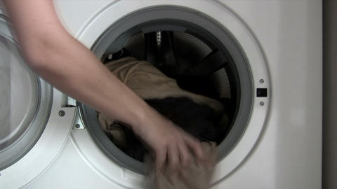 Filling Washing Machine Footage
