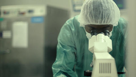 Man Doing Research in Pharmaceutical Lab Footage
