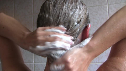 Washing Her Hair Footage