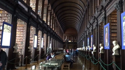 The Long Room Trinity Collage Dublin Footage