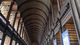 Long Room Trinity Collage Dublin Footage