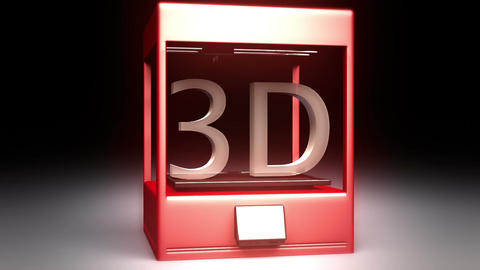 3D Printer 2 stock footage