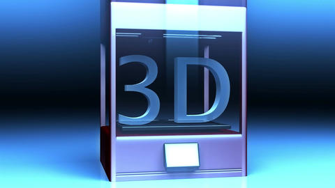 4K 3D Printer 2 Animation