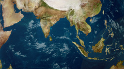 Earth Zoom to Indian Ocean Animation