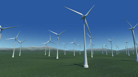 Wind Turbine Ga HD Animation