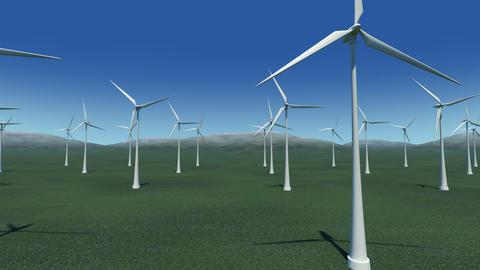 Wind Turbine Ga HD Stock Video Footage