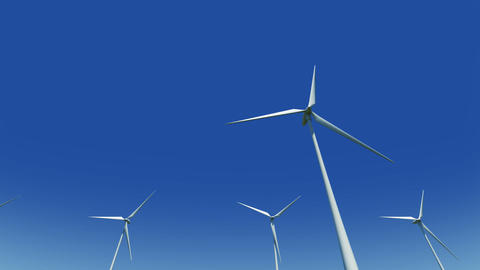 Wind Turbine Ge HD Animation