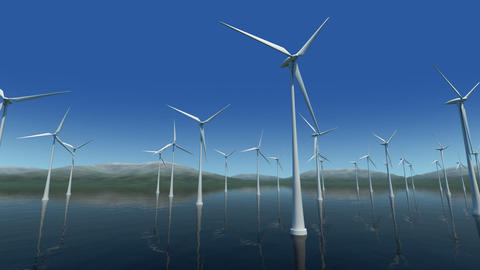 Wind Turbine Sa HD Animation