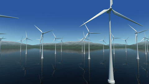 Wind Turbine Sa HD Stock Video Footage