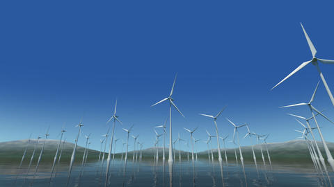 Wind Turbine Sc HD Stock Video Footage