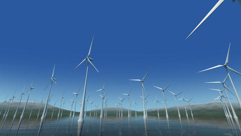 Wind Turbine Sc HD Stock Video Footage