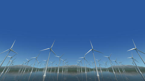 Wind Turbine Sf HD Animation