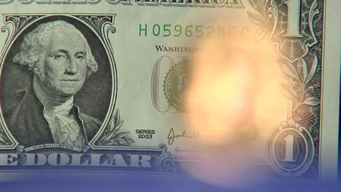 Money series: dollar to euro defocus super close Stock Video Footage