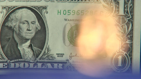 Money series: dollar to euro defocus super close Footage