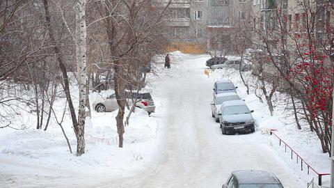 Winter scene Stock Video Footage