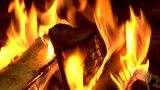 Chimney Fire Close stock footage
