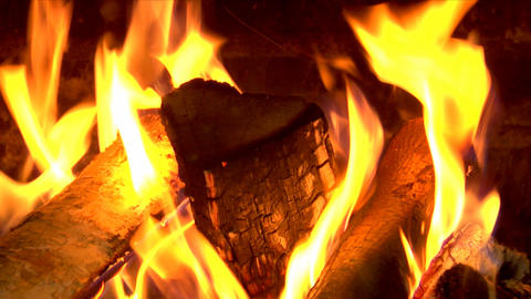 chimney fire close Stock Video Footage