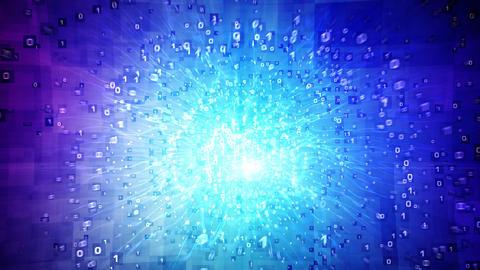 Digital star loop Stock Video Footage
