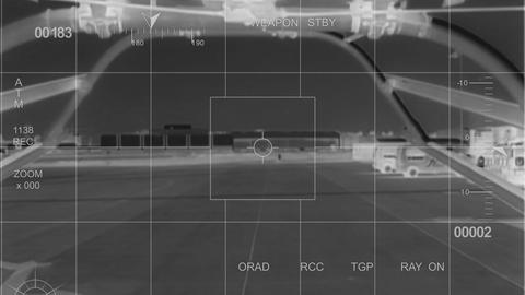 infrared War Helicopter lift off Stock Video Footage