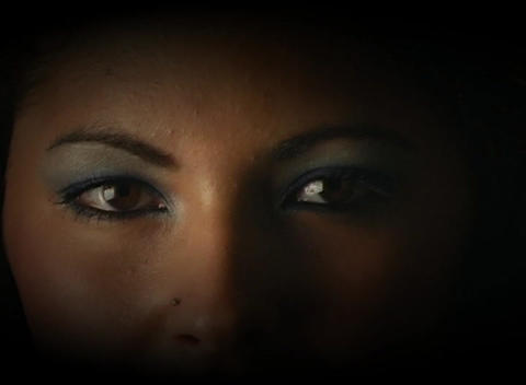 Beautiful, Mysterious Female Eyes Stock Video Footage