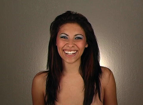 Beautiful Young Woman Laughing Stock Video Footage