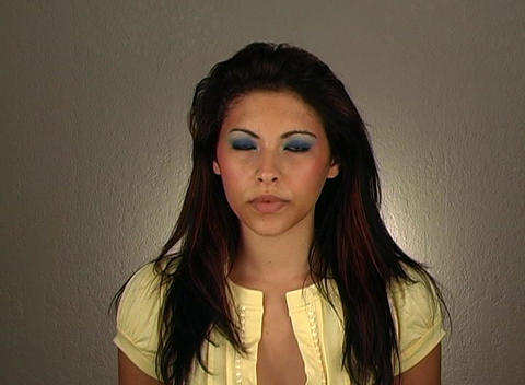 """Beautiful Young Woman Shakes her Head """"No"""" (1) Stock Video Footage"""