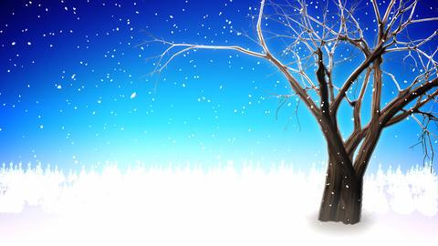Winter tree loop Stock Video Footage