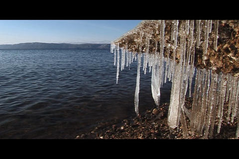 Water and ice 2 Stock Video Footage