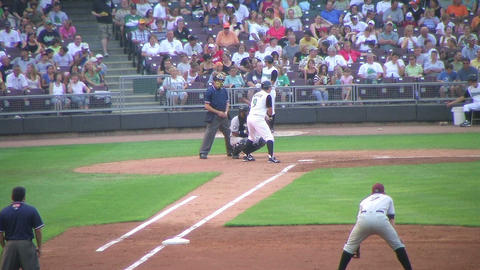 Batter Strikes Out 03 Stock Video Footage